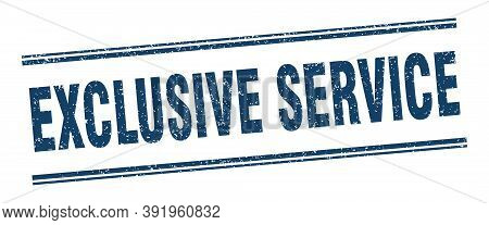 Exclusive Service Stamp. Exclusive Service Label. Square Grunge Sign