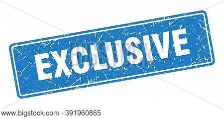 Exclusive Stamp. Exclusive Vintage Blue Label. Sign