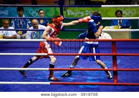 Boxer Lands A Punch