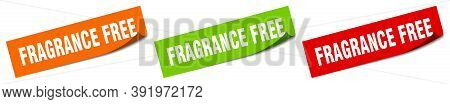 Fragrance Free Sticker. Fragrance Free Square Isolated Sign. Fragrance Free Label