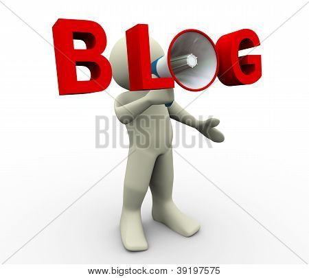 3D Man Blog megafoon
