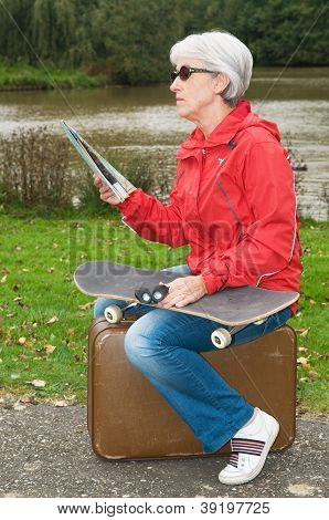 Modern Senior On Holiday