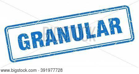 Granular Stamp. Square Grunge Sign On White Background