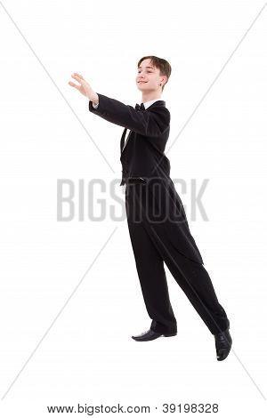 Ballroom Dancer Dressed In A Tailcoat