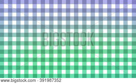 Green White Blue Purple Checkered Background. Space For Graphic Design And Creative Ideas. Checkered