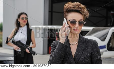Female Bodyguard. Celebbrity Bodyguard And Vip Protection Services. Security Guard