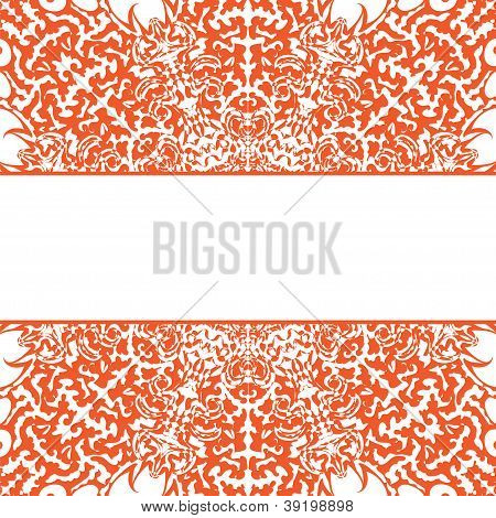 Stock Vector Illustration: snowflake vector frame background abstract pattern