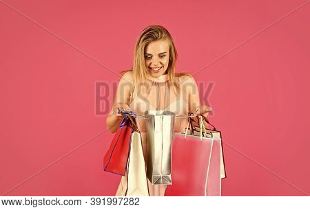 Shopping With Discount. Gifts And Presents. Woman Paper Bags. Cute Shopaholic. My Birthday. Fashion