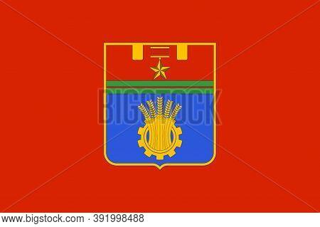 Flag Of Volgograd Of Russia
