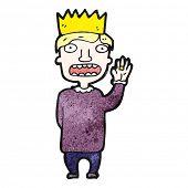 cartoon prince swearing oath poster