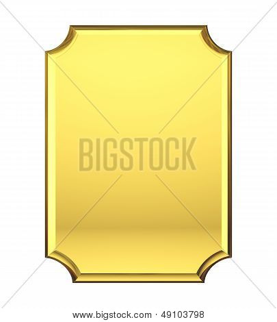 Blank Gold Plate.