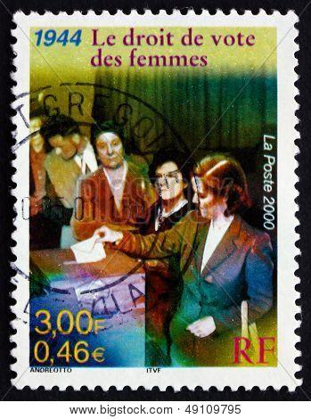 Postage Stamp France 2000 Women's Suffrage, 1944