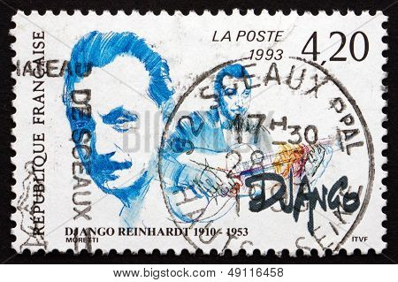 Postage Stamp France 1993 Jean Django Reinhardt, Musician