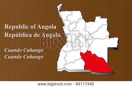 Angola - Cuando Cubango Highlighted