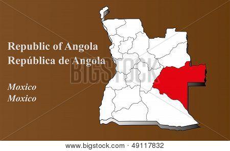 Angola - Moxico Highlighted