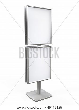 White Display Advertising Stand