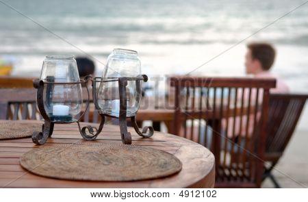 Table Set At Beach
