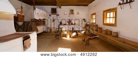 Ukrainian Historical Peasant Dwelling Interior
