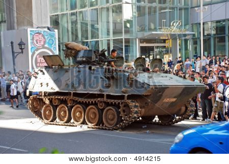 Armoured Vehicle Siam Paragon - Redshirt Protest