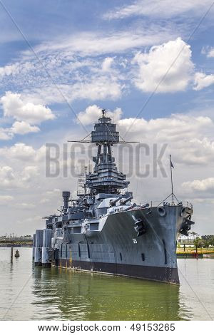 The Famous historic Dreadnought Battleship in Texas poster