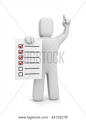 Guy with checklist