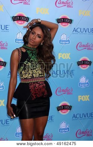 LOS ANGELES - AUG 11:  Kat Graham at the 2013 Teen Choice Awards at the Gibson Ampitheater Universal on August 11, 2013 in Los Angeles, CA