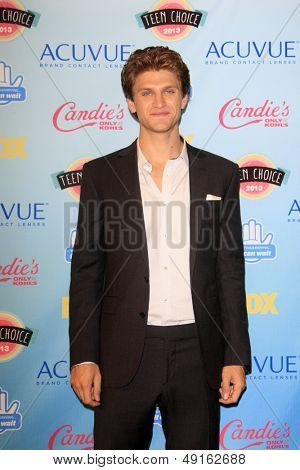 LOS ANGELES - AUG 11:  Keegan Allen in the 2013 Teen Choice Awards Press Room at the Gibson Ampitheater Universal on August 11, 2013 in Los Angeles, CA