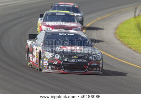 LOMG POND, PA - AUG 04, 2013:  Ryan Newman (39) takes to the track for the GoBowling.com 400 race at the Pocono Raceway in Long Pond, PA on Aug 4, 2013.