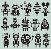 Monsters and robots collection. Vector illustration. . This is file of EPS8 format. poster