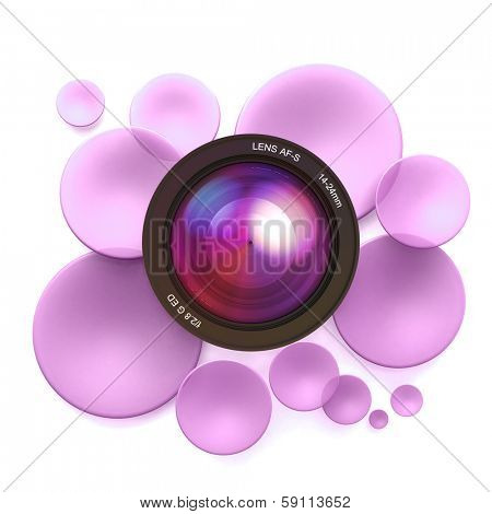 Pink disks and a camera lens