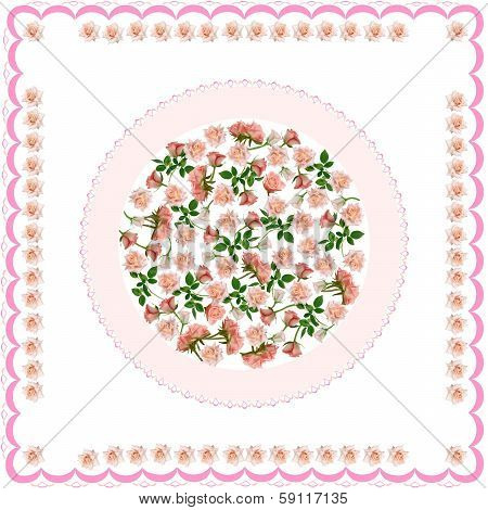 tablecloth with pink roses