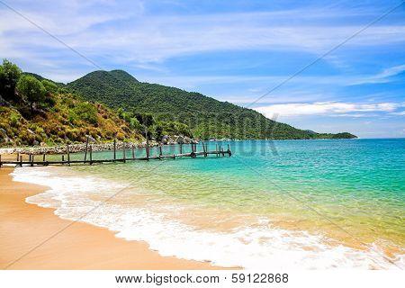 Beatiful sand of beach sea