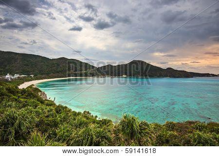 Aharen Beach on Tokashiki Island, Okinawa, Japan.