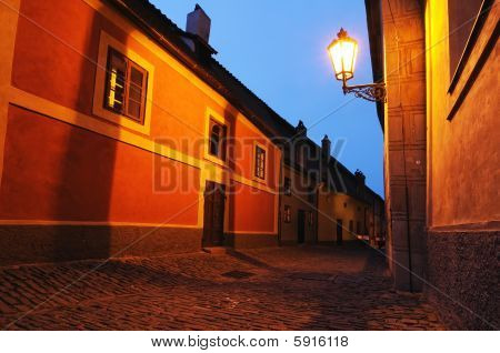 Narrow Prague Street