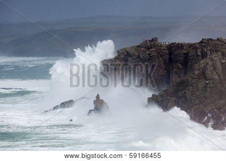 Cornish Storm At Sennen Cove