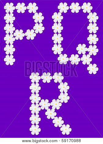 letter p,q,r