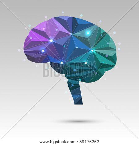 Creative concept of the brain, eps10 vector