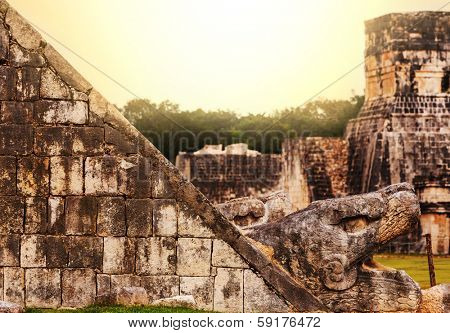 Mayan Pyramid in Chichen Itza Site, Mexico