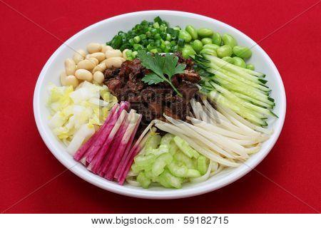 zha jiang mian(Beijing style), chinese noodle cuisine