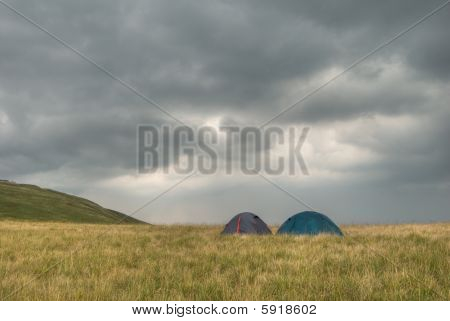 Tents And Clouds