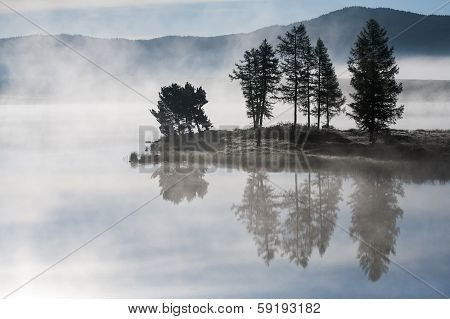 Morning Mist Over The Lake