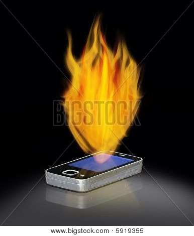 Mobil Phone - on fire