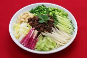 zha jiang mian(Beijing style), chinese noodle cuisine poster