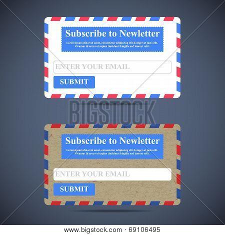 The Newsletter Subscription Form. Web Design.