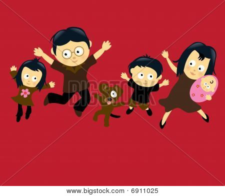 Family Jumping  (Asian)