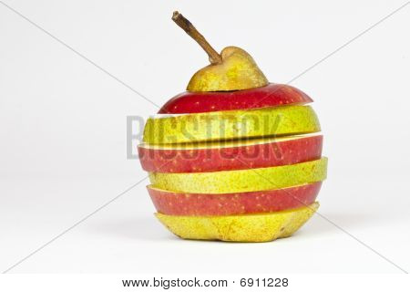 Sliced Pear And Apple