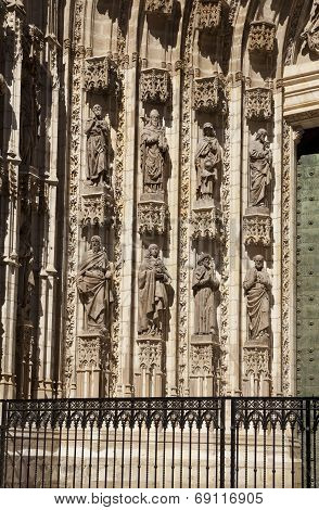Sculptures In Seville Cathedral
