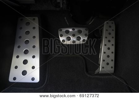 Sport car chrome pedals