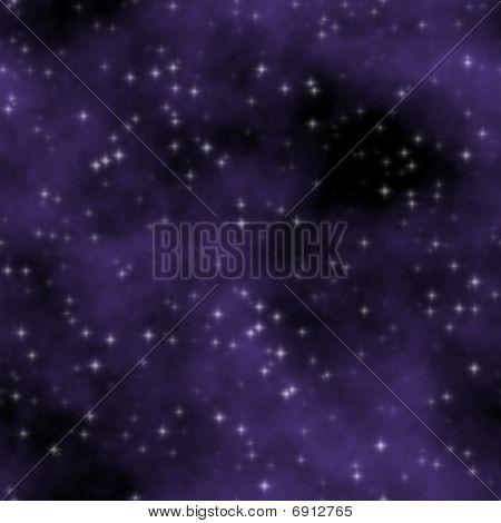 Purple Stars Nebula Sky