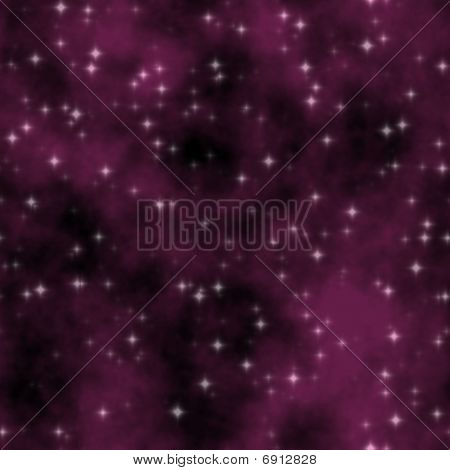 Red Stars Nebula Sky